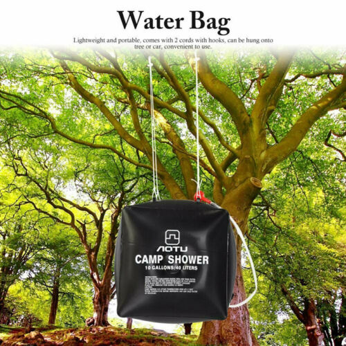 40L Portable Solar Camp Shower Bag Traveling Camping Water Carrier Foldable B/_fr