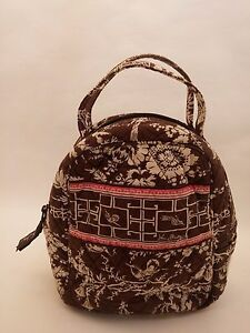 Vera Bradley Retired Imperial Toile Lunch Bag Brunch Tote Lined Sack ... 6d7da35666b75