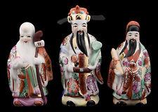 3 Sages Chinois Fuk Luk Sau Fu lu Shou - Statuettes en  Porcelaine de Chine 8861
