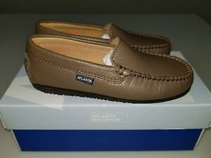 Size 33 Shoe In Us.Details About Atlanta Mocassin Boys Shoes Taupe Loafer Size 33 Us Size 2 5 Brand New In Box