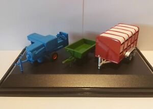 Farm-Trailer-Baler-3-Piece-Set-Diecast-Model-1-76-Scale-Gauge-00-Oxford-NEW