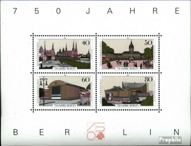 Berlin (West) block8 (complete.issue) unmounted mint / never hinged 1987 750 yea