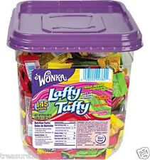 Nestle Wonka Laffy Taffy Assorted Flavors Bite Size 145ct - 3lb Tub NEW