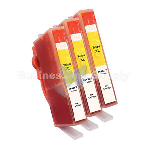3-YELLOW-564XL-CB325WN-New-Ink-Cartridge-W-CHIP-564XL-INK-LEVEL-564XL-for-HP