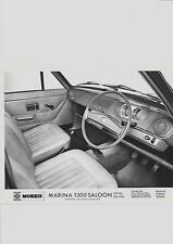 "B.LEYLAND MORRIS MARINA 1300 SALOON SUPER DELUXE  PRESS PHOTO""brochure related"""
