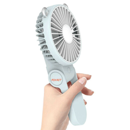 Fan Portable Rechargeable Battery 3 Speed USB Port and Cable