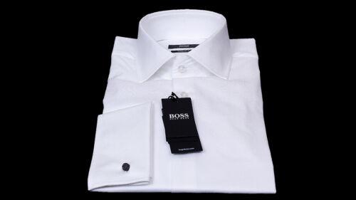 Hugo Boss Business Anzughemd Gardner 40 weiß Baumwolle langarm Regular Fit Neu