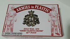 Zulu War 1879 24th Foot Soldiers 18 1/32 Armies in Plastic