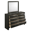 thumbnail 6 - NEW Gray Storage Queen King Bedroom Set Contemporary Modern Furniture Bed/D/M/N