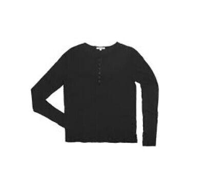 Cotton Citizen Women Red Rock Marbella Button Henley Long Sleeve Tee W201520 FSR