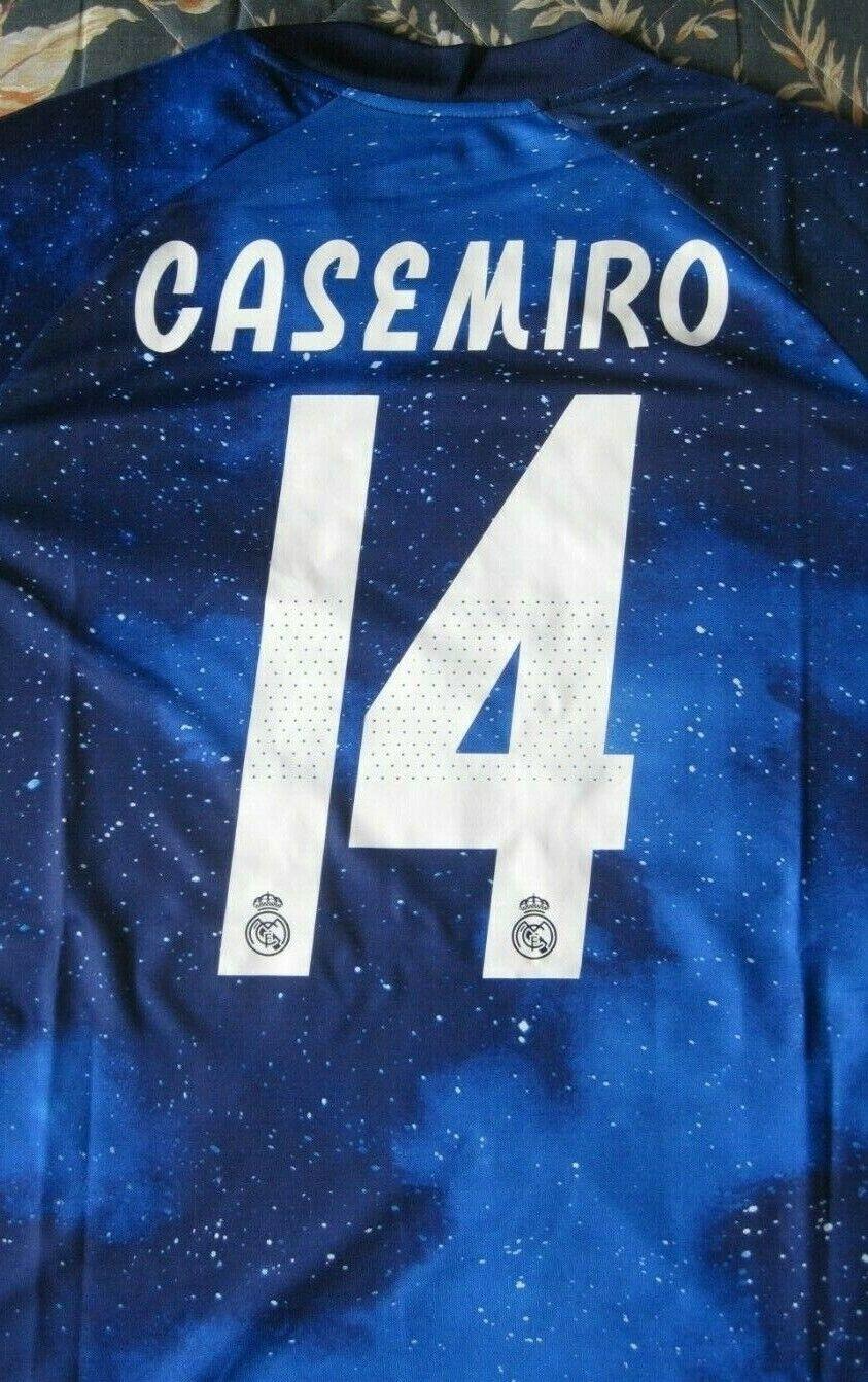 Shirt Trikot Maglia Camiseta REAL MADRID Galaxy 14 CASEMIRO Dimensione L Patch LFP