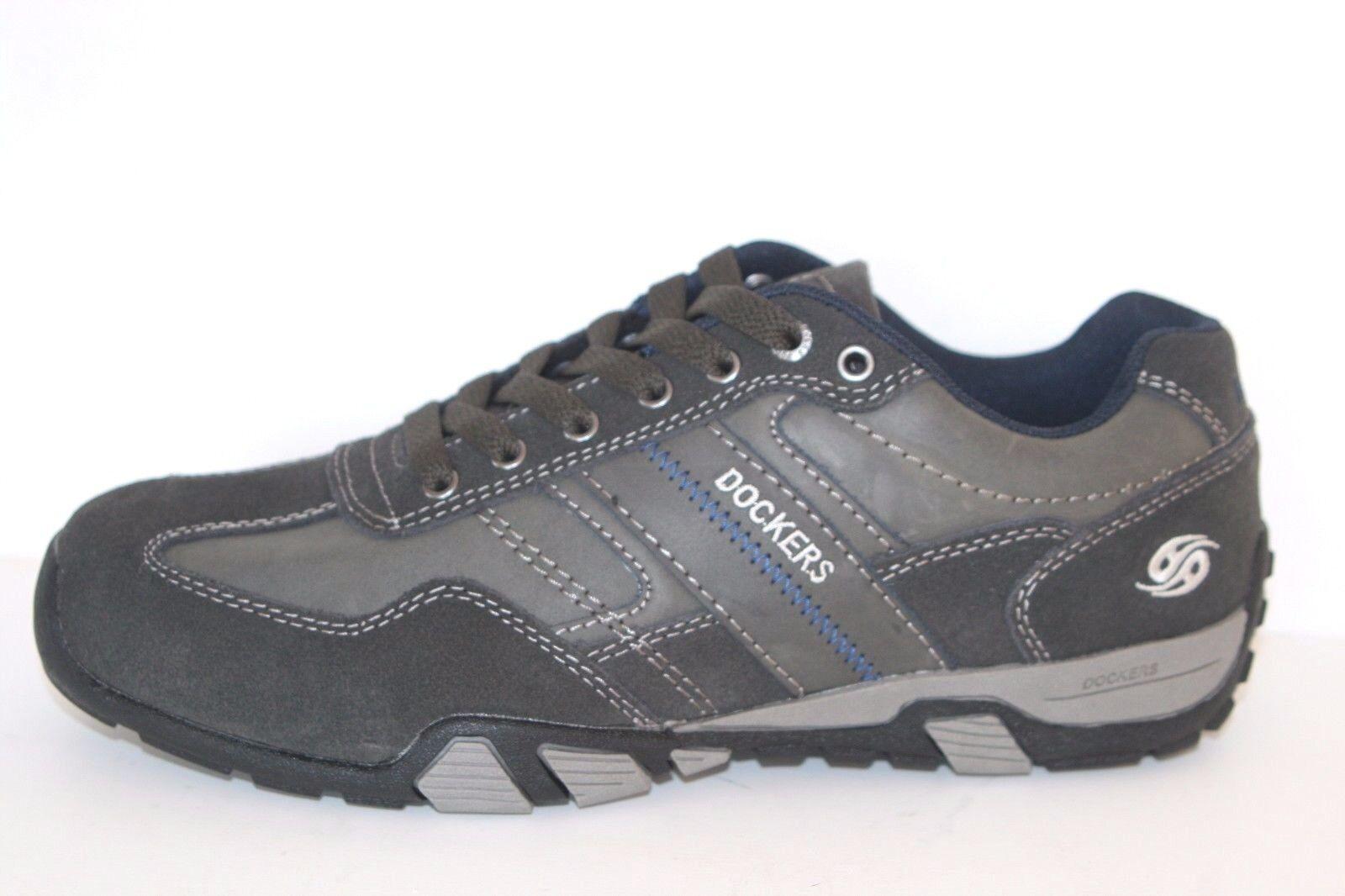 DOCKERS Schuhe Herren Halbschuhe Schnürschuhe Freizeitschuhe Männer asphalt grau