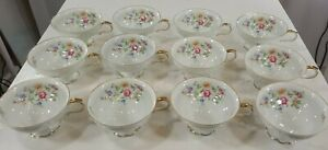 Vintage Edelstein Bavaria Queen's Rose Footed Tea/Coffee Cup  12pcs.