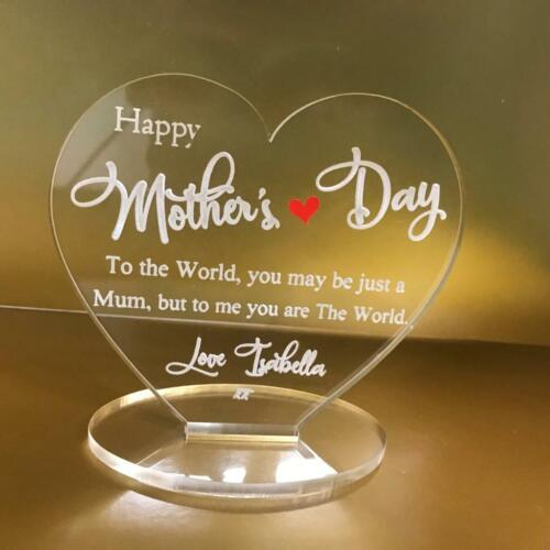 Personalised happy mothers day mum you are the world plaque gift