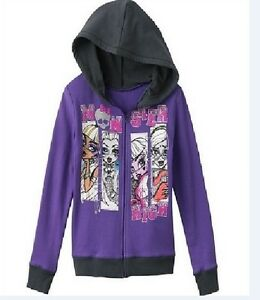 MONSTER High Jacket NeW Girls size 16 Purple Zip-Up Hoodie | eBay