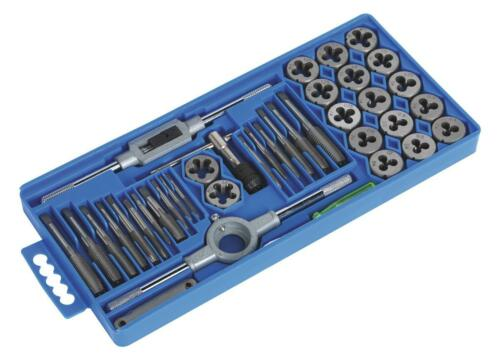 HEAVY DUTY 40PC METRIC TAP WRENCH AND DIE CUTTER SET M3-M12 IN STORAGE CASE