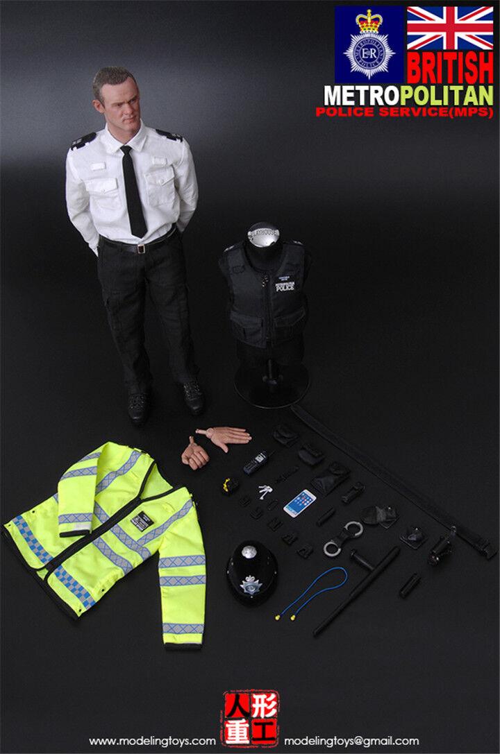 MODELING TOYS 1 6 militares Serie  servicio británico Policía Metropolitana (MPS)