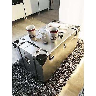 rétro loft déco table alu aluminium Lot de 3 pièces valise neuf en Boîte boxes