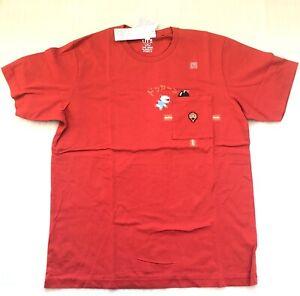 NEW-UNIQLO-T-Shirt-Bomberman-Red-XL-Nintendo-Famicom-Game-Classic-Pixels