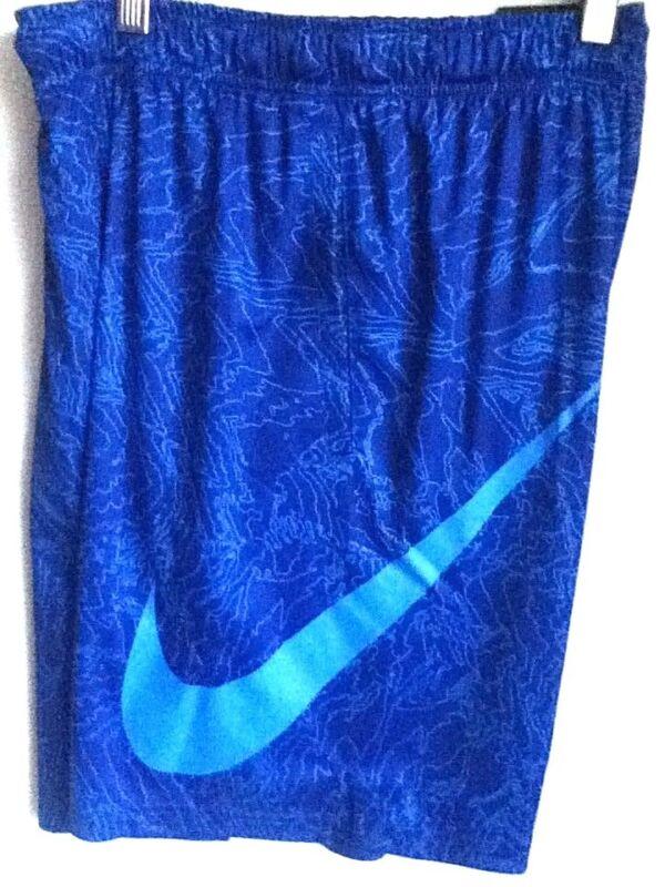 Originale Nike Drifit Stampa Grafica Blu Pantaloncini Da Basket 904627-455