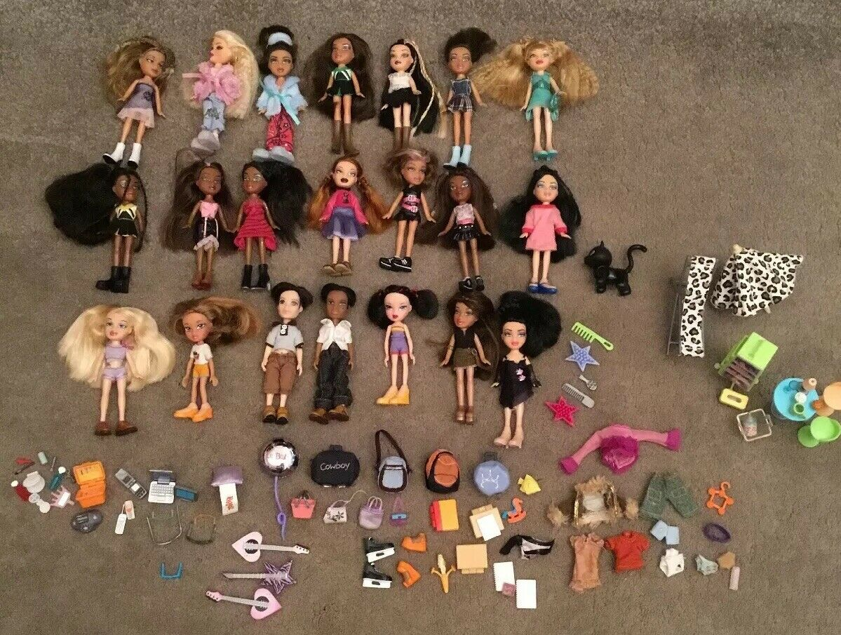 Bratz MGA Lil Dolls Bundle 21 dolls all Kleided with schuhe & Accessories