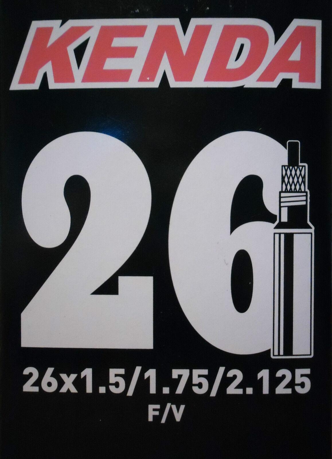 Kenda Chambre à à à air de vélo Presta Valve 26 X 1.5/1.75/2.125 Vélo Cyclisme eb4e25