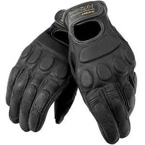 Dainese-BLACK-JACK-cuir-court-vintage-CRUISER-Personnalise-Moto-Gants-Noir