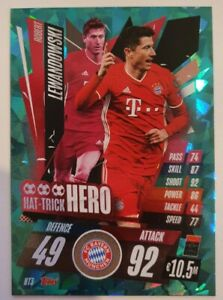 2020/21 Match Attax UEFA Champions League - Lewandowski Hattrick Hero Bayern