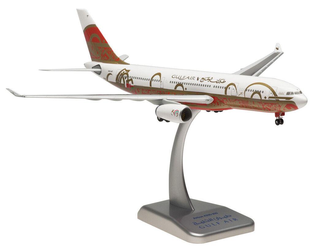 Gulf Air 50th Anniversary Airbus Airbus Airbus a330-200 1 200 hogan wings 0465 modèle a332 NEUF 7cc65d