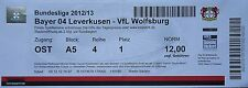 TICKET 2012/13 Bayer 04 Leverkusen - VfL Wolfsburg
