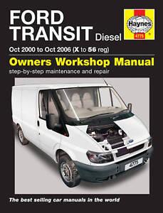 haynes workshop repair manual ford transit 00 06 4775 ebay rh ebay co uk ford transit mk6 service manual Ford Transit Passenger Van