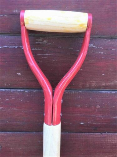 SPADE SHOVEL REPLACEMENT SPARE WOOD WOODEN SHAFT TAPERED Y HANDLE GARDEN FORK-2