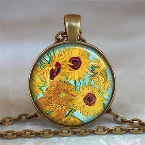 Collana-con-Ciondolo-Van-Gogh-Girasoli-Sunflowers-Col-Bronzo