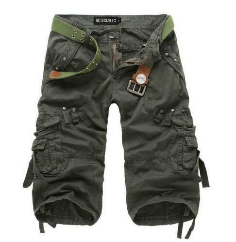 Mens Casual Pants Baggy Shorts Stylish Fashion New Cargo Short Capri Trousers