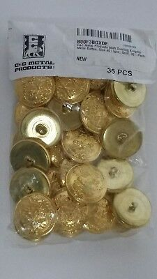 72-Pack C/&C Metal Products 5026 Dueling Knights Metal Button Nickel Size 24 Ligne