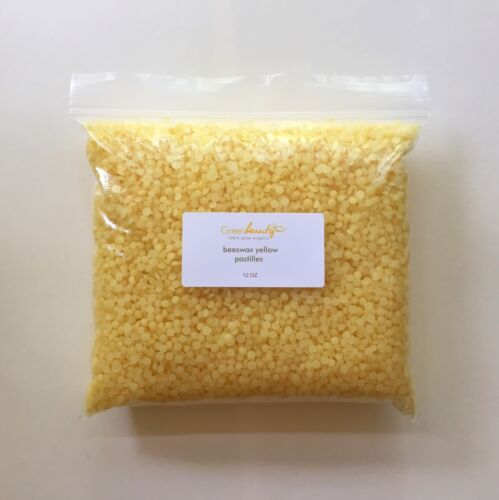 YELLOW BEESWAX BEES WAX PASTILLES PREMIUM 100/% PURE ORGANIC 4 OZ TO 25 LBS