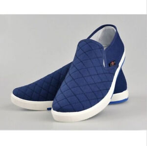 New-Canvas-Breathable-Slip-On-Loafers-Casual-Mens-Cotton-Shoes-Driving-Shoes