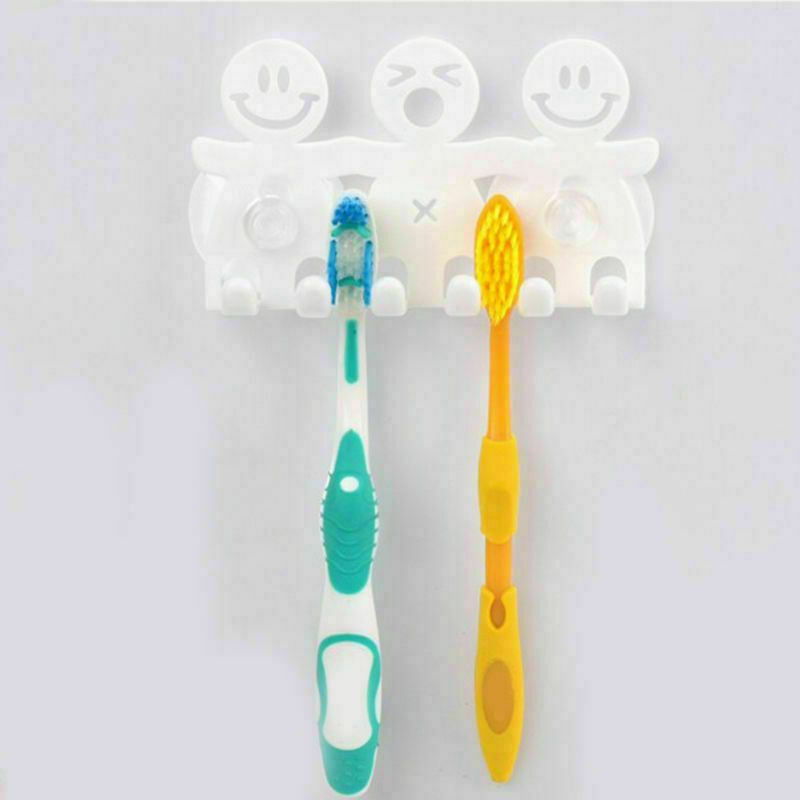 Toothpaste Wall Mount Cartoon Bathroom Home SuctionGrip Hanger Toothbrush Holder