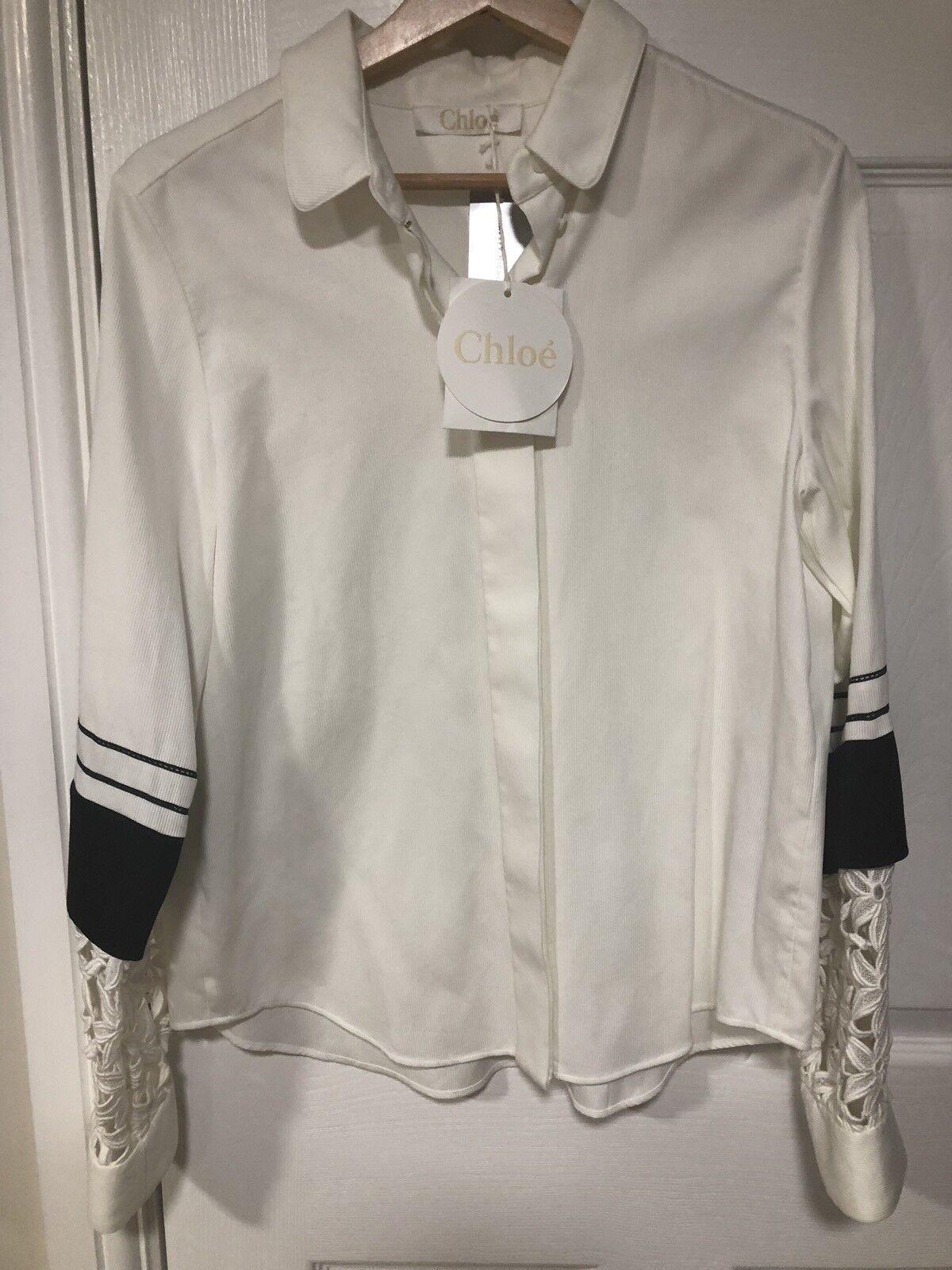 Chloe Shirt for damen new with tag Weiß and schwarz Größe 40