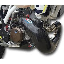 PRO CARBON Fibre NEW XL Exhaust Guard Fits FMF GNARLY SHERCO 250 300 SE R 13-18