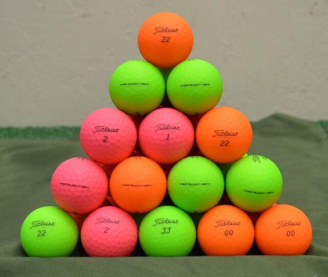 36 Titleist Velocity 5A Matte Color Mix Golf Balls