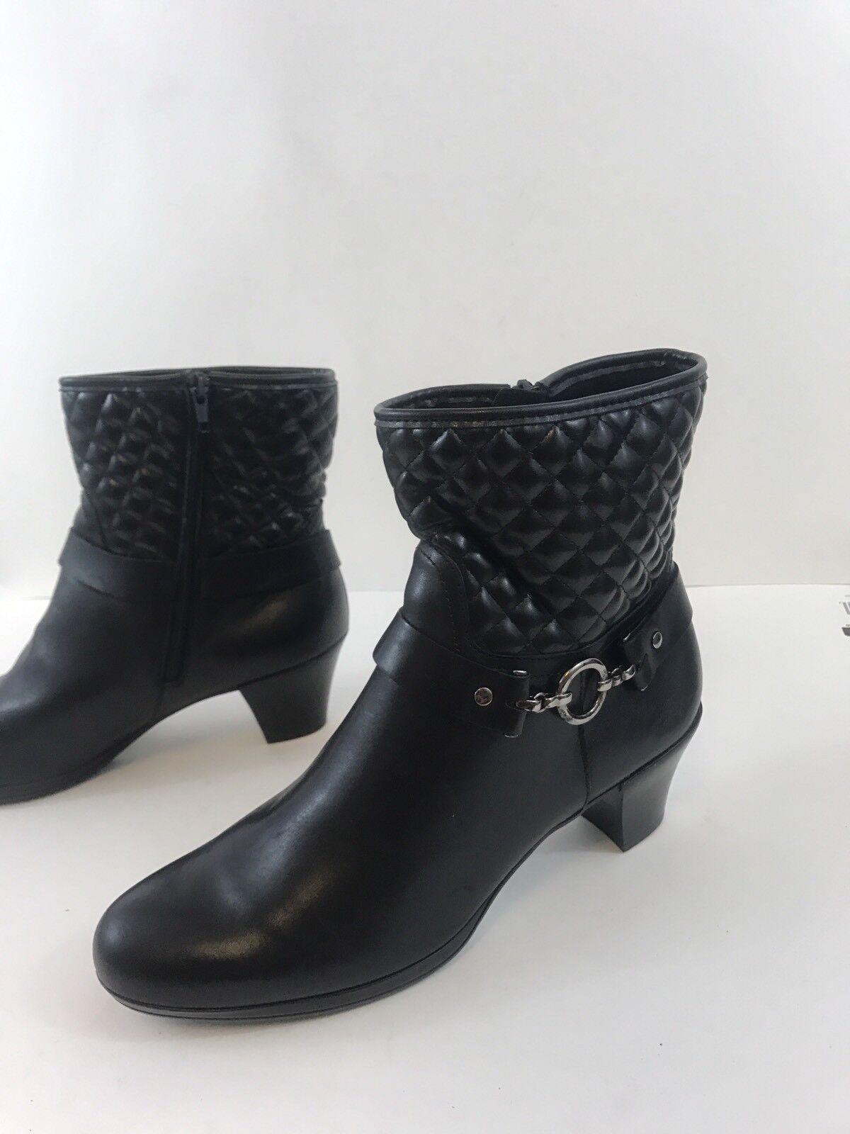 Munro American Laconia Acolchado Negro botas botas botas al tobillo Botines Talla 10 M  13 040063