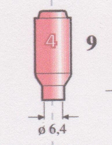 4 10n50 Replacement Torch TIG Diameter 6,4 mm. Ceramic Nozzle GR