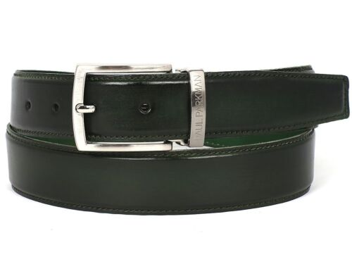 Paul Parkman Men/'s Leather Belt Hand Painted Dark Green