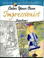 Impressionist Paintings Coloring Book (paperback, New) Dover Adult