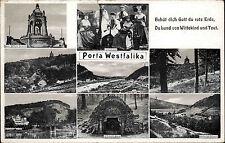 Porta Westfalica AK 1944 Kaiser Wilhelm Denkmal Landestracht Trachten Wittekind
