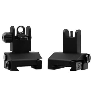 223-5-56-Micro-Front-Rear-Flip-Up-BUIS-Floding-Backup-Iron-Sight-Set-For-Rifle