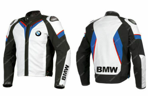 BMW Motorrad Lederjacke Biker Racer Sport Herren Leder Jacken Motorcycle Jacket