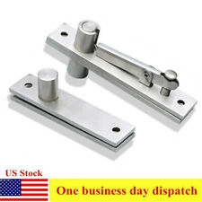 2pcs 360 Rotation Hidden Door Corner Top and Bottom Hinge Furniture Hinge Chicken Mouth Base Grinding Accessories Hinge Color: as Picture