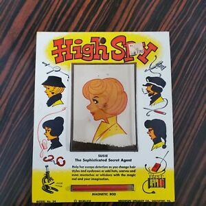 Vintage-High-Spy-Secret-Agent-Susie-Magnetic-Draw-Doodle-Card-Pad-W-Wand-1960s